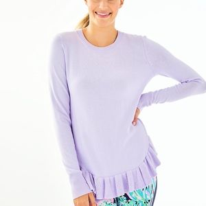 BNWT Lilly Pulitzer lilac estella ruffle sweater